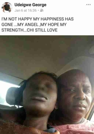 Love Or Madness? Man Takes Picture With Wife
